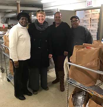 MPBHBA Businesses Help Restock Food Pantry's Shelves