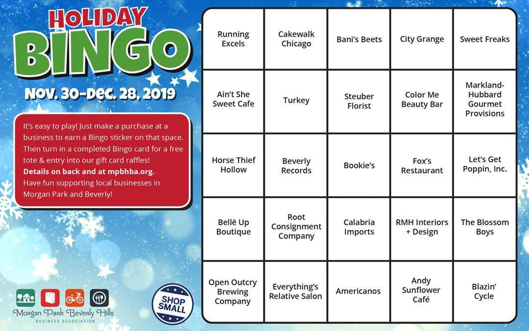 Shop Local & Play Holiday Bingo